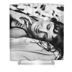 Bed Portraits Shower Curtain