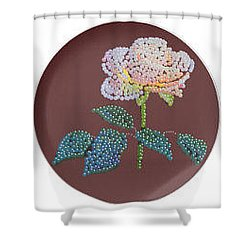 Shower Curtain featuring the digital art Bedazzed Rose Plate by R  Allen Swezey
