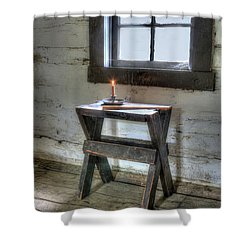 Shower Curtain featuring the digital art Bedford Village 2 by Sharon Batdorf