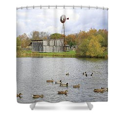 Shower Curtain featuring the digital art Bedford Village by Sharon Batdorf