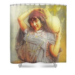 Bedouine Water Carrier Shower Curtain
