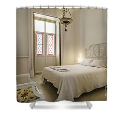 Shower Curtain featuring the photograph Bedroom Apartment In The Heart Of Cadiz by Pablo Avanzini
