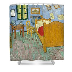 Shower Curtain featuring the painting Bedroom At Arles by Van Gogh