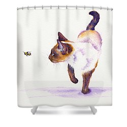 Bee Free Shower Curtain by Debra Hall