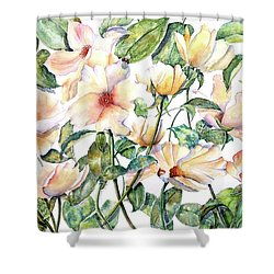Bee Happy Shower Curtain by Debbie Lewis