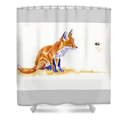 Bee Important Shower Curtain