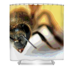 Shower Curtain featuring the photograph Bee In Macro 5 by Micah May