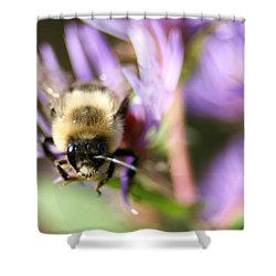 Bee Mustache Shower Curtain