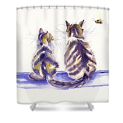 Bee Patient Shower Curtain