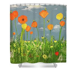 Bee-utiful Day Shower Curtain
