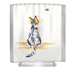 Bee Watchful Shower Curtain