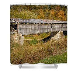 Beech Fork Or Mooresville Covered Bridge Shower Curtain