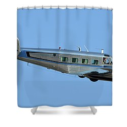 Beech G18s N351wp Chino California April 29 2016 Shower Curtain by Brian Lockett