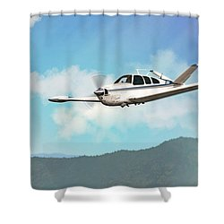 Beechcraft Bonanza V Tail Shower Curtain