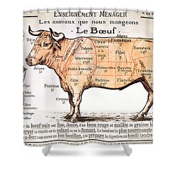 Beef Shower Curtain by French School