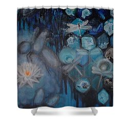 Beehive Blues Shower Curtain