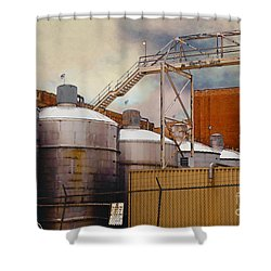 Beer Shower Curtain by David Blank