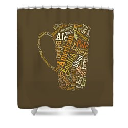 Beer Lovers Tee Shower Curtain