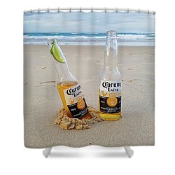 Beer O'clock Shower Curtain