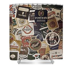 Beers Of The World Shower Curtain by Nicklas Gustafsson