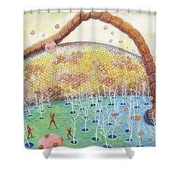 Bee's Eye And Antenna Shower Curtain
