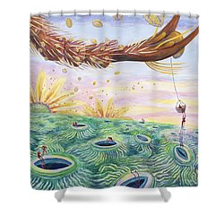 Bee's Foot Shower Curtain