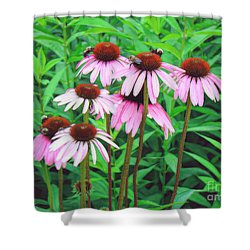 Shower Curtain featuring the photograph Bees In Heaven by Sue Melvin