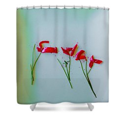 Beet The Blues Shower Curtain