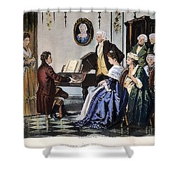 Beethoven & Mozart, 1787 Shower Curtain by Granger