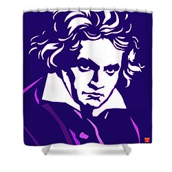Beethoven Classique One Radio Paris  Shower Curtain
