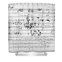 Beethoven: Ghost Trio Shower Curtain by Granger