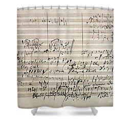 Beethoven Manuscript Shower Curtain by Granger