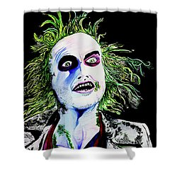 Shower Curtain featuring the painting Beetlejuice by eVol i