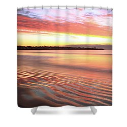 Before Sunrise At First Beach Shower Curtain