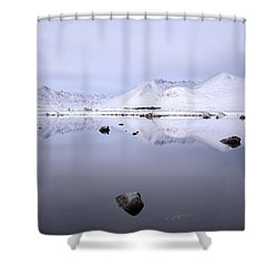 Shower Curtain featuring the photograph Before Sunrise, Glencoe by Grant Glendinning