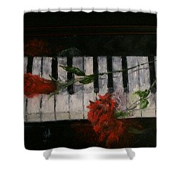 Before The Concert Shower Curtain