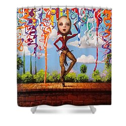 Before The Fall Shower Curtain by Kat Tatz