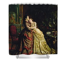 Before The Marriage Shower Curtain by Sergei Ivanovich Gribkov