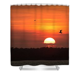 Before The Setting Sun Shower Curtain