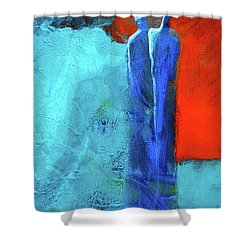 Shower Curtain featuring the painting Before The Wedding by Nancy Merkle