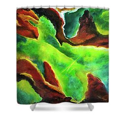 Beginnings 1 #410 Shower Curtain by Donald k Hall