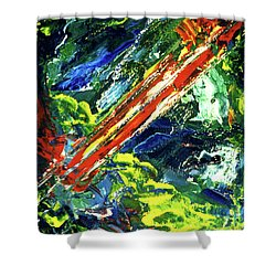 Beginnings #186 Shower Curtain by Donald k Hall