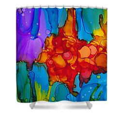 Shower Curtain featuring the painting Beginnings Abstract by Nikki Marie Smith