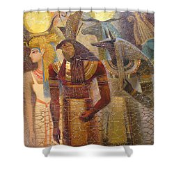 Beginnings. Gods Of Ancient Egypt Shower Curtain