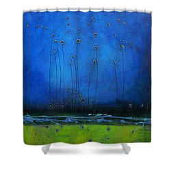 Shower Curtain featuring the painting Beginnings by Nicole Nadeau