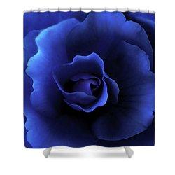 Begonia Floral Dark Secrets Shower Curtain by Jennie Marie Schell