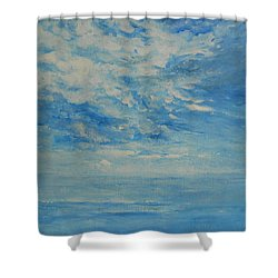 Behind All Clouds Shower Curtain by Jane See