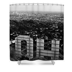 Behind Hollywood Bw Shower Curtain