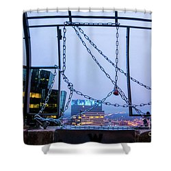 City Behind The Chains Shower Curtain