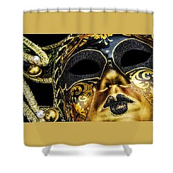 Shower Curtain featuring the photograph Behind The Mask by Carolyn Marshall